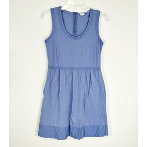 J Crew blue jersey dress with pockets size S